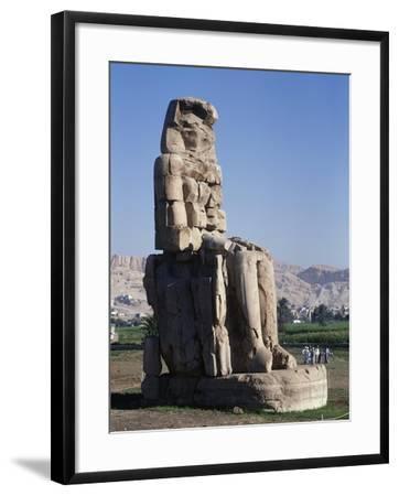 Egypt, Luxor Governorate, Karnak, Statue of Amenhotep III--Framed Giclee Print