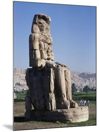 Egypt, Luxor Governorate, Karnak, Statue of Amenhotep III--Mounted Giclee Print