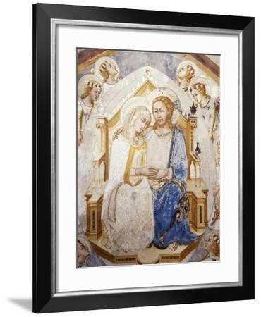 Central Section of Assumption of the Virgin, from Master Trecentesco School--Framed Giclee Print