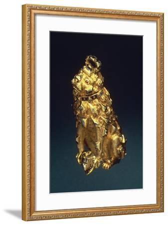 Gold, Enamel and Diamonds Pendant Representing Lion--Framed Giclee Print