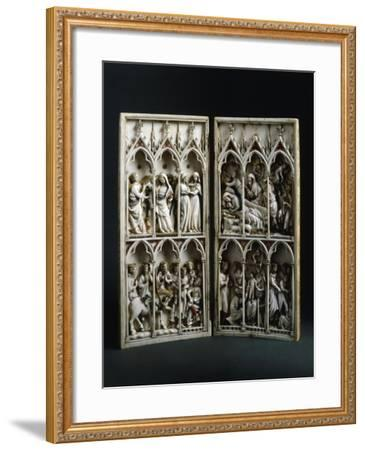 Scenes from Childhood of Christ, Diptych, Ca 1330--Framed Giclee Print