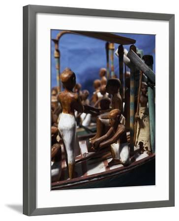 Model of Ship, Painted Wood, from Deir El-Bahari, Detail--Framed Giclee Print
