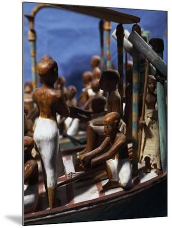 Model of Ship, Painted Wood, from Deir El-Bahari, Detail--Mounted Giclee Print