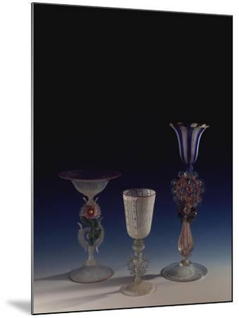 Glass Goblets, Italy--Mounted Giclee Print