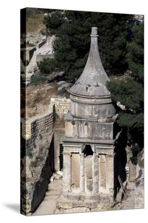 Absalom's Tomb, Kidron or Qidron Valley, Jerusalem, Israel, Jewish Civilization BC--Stretched Canvas Print