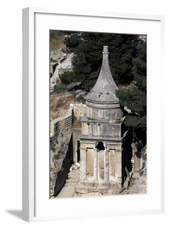 Absalom's Tomb, Kidron or Qidron Valley, Jerusalem, Israel, Jewish Civilization BC--Framed Giclee Print