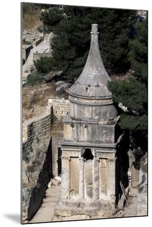 Absalom's Tomb, Kidron or Qidron Valley, Jerusalem, Israel, Jewish Civilization BC--Mounted Giclee Print
