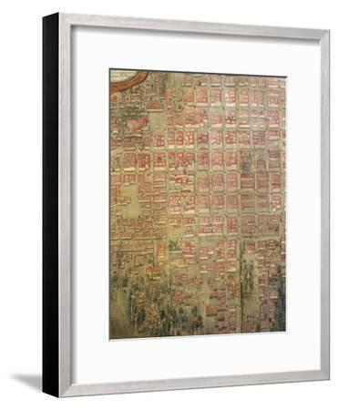 Map of Mexico City, 1737--Framed Giclee Print