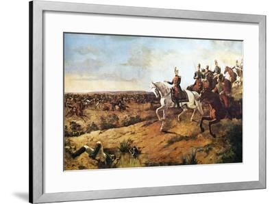 Simon Bolivar Heading His Army at Battle of Junin, August 5, 1824--Framed Giclee Print