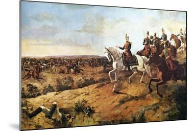 Simon Bolivar Heading His Army at Battle of Junin, August 5, 1824--Mounted Giclee Print