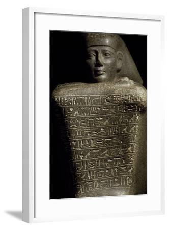 Granite Cube Statue of Yamu Nedjeh from Ourna--Framed Giclee Print