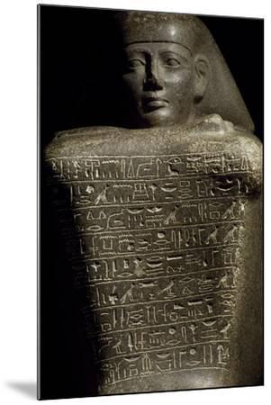 Granite Cube Statue of Yamu Nedjeh from Ourna--Mounted Giclee Print