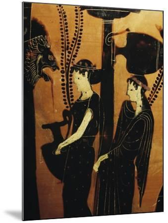 Women at Well, Detail from Red-Figure Attic Vase, 5th Century BC--Mounted Giclee Print