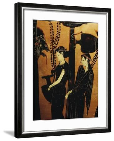 Women at Well, Detail from Red-Figure Attic Vase, 5th Century BC--Framed Giclee Print