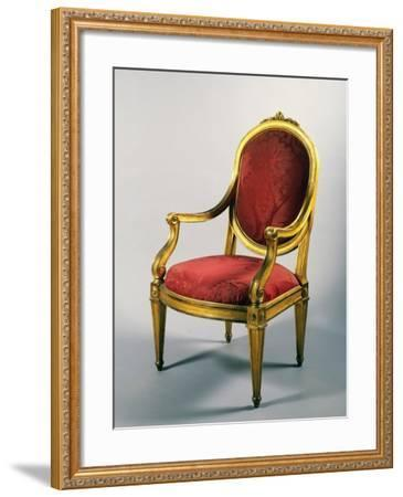 Carved and Gilt Genoese Armchair, 1780--Framed Giclee Print
