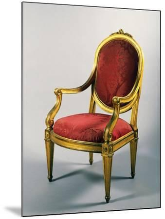 Carved and Gilt Genoese Armchair, 1780--Mounted Giclee Print
