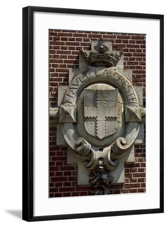 Crest, Detail from Chateau De Suzanne, Picardy, France, 17th-19th Century--Framed Giclee Print