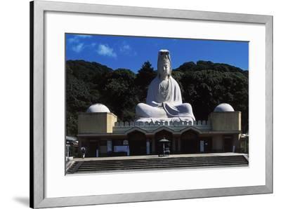 Facade of Ryozen Kannon Buddhist Temple, Kyoto, Kansai, Japan.--Framed Giclee Print