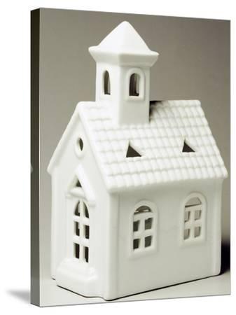 Tyrolean Church, Miniature, Ceramic, La Porcellana Bianca, Italy--Stretched Canvas Print