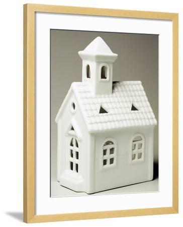 Tyrolean Church, Miniature, Ceramic, La Porcellana Bianca, Italy--Framed Giclee Print