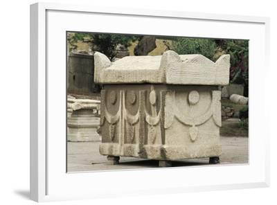 Egypt, Alexandria, Catacombs of Kom-Esh-Shuqafa, Sarcophagus--Framed Giclee Print