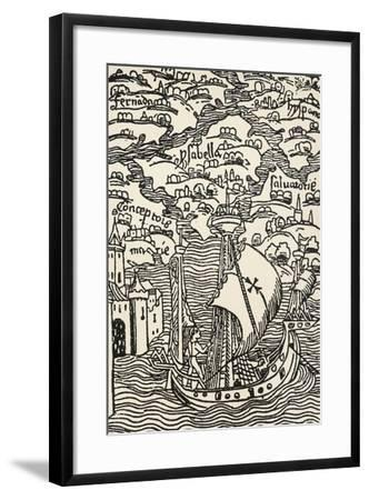 The Archipelago of West Indies, Antilles--Framed Giclee Print