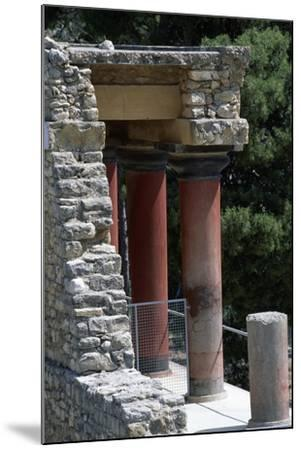 Guard Tower, Palace of Knossos, Crete, Greece, 16th Century BC--Mounted Giclee Print