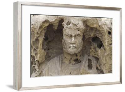 Egypt, Alexandria, Catacombs of Kom-Esh-Shuqafa, Interior of the Hypogeum, Detail of a Statue--Framed Giclee Print