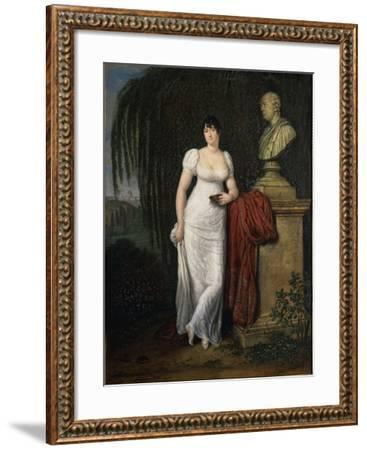 Portrait of Teresa Monti Pichler, Wife of Poet Vincenzo Monti by Carlo Labruzzi--Framed Giclee Print