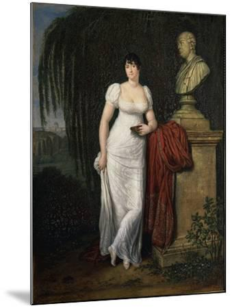 Portrait of Teresa Monti Pichler, Wife of Poet Vincenzo Monti by Carlo Labruzzi--Mounted Giclee Print