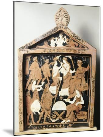 Greek Civilization, Red-Figure Pottery, Pinax Depicting Ritual, Ex-Voto from Eleusis, Greece--Mounted Giclee Print