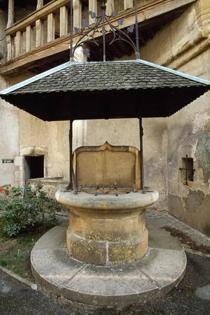 Well in Courtyard of Chateau De Corcelles, France, 15th-16th Century--Stretched Canvas Print
