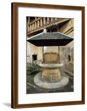 Well in Courtyard of Chateau De Corcelles, France, 15th-16th Century--Framed Giclee Print