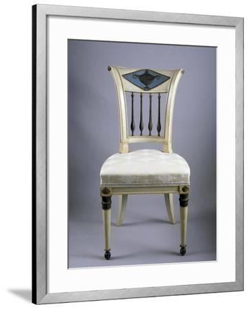 Directoire Style Lacquered Lucchese Chairs, Italy, Italian Culture--Framed Giclee Print