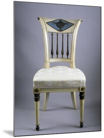 Directoire Style Lacquered Lucchese Chairs, Italy, Italian Culture--Mounted Giclee Print
