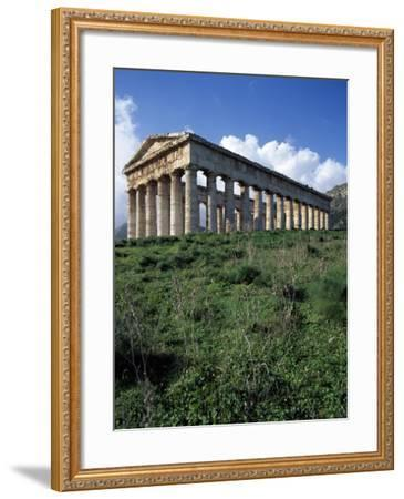 Temple of Segesta, Sicily, Italy, 5th Century BC--Framed Giclee Print