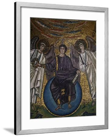 Christ as the Redeemer and Two Archangels--Framed Giclee Print
