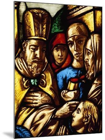 Italy, Milan Cathedral, King David Anointed by Samuel, Panel from a Stained-Glass Window--Mounted Giclee Print