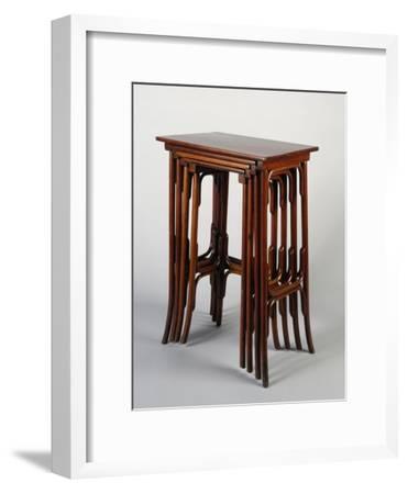 Thonet Nested Tables, Austria--Framed Giclee Print