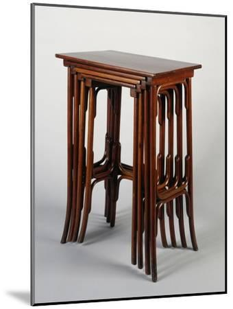 Thonet Nested Tables, Austria--Mounted Giclee Print