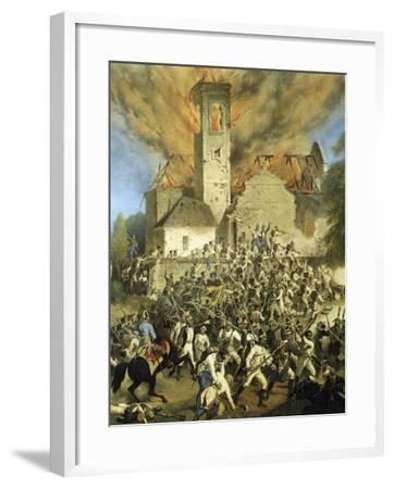 Clashes Between the French and Austrians for the Capture of Vienna--Framed Giclee Print