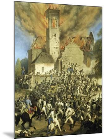 Clashes Between the French and Austrians for the Capture of Vienna--Mounted Giclee Print