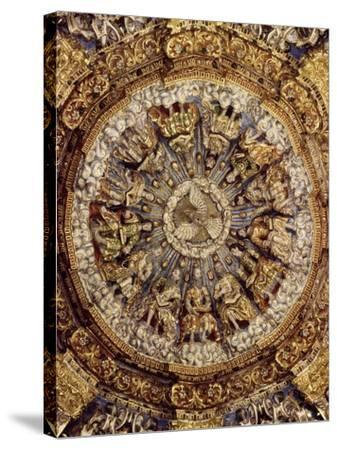 Dome of Pentecost, 1723, Church of Ocotlan, Mexico--Stretched Canvas Print