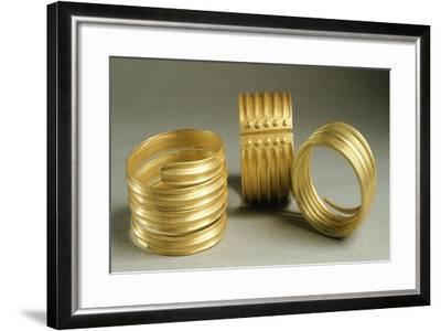 Gold Bracelets from Metal Age, from Hinova Treasure, Romania--Framed Giclee Print