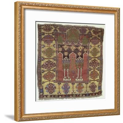 Rugs and Carpets: Turkey - Anatolia - Konya Carpet--Framed Giclee Print