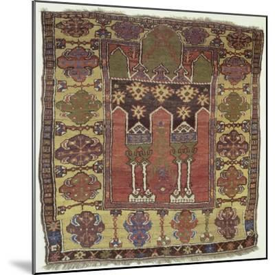 Rugs and Carpets: Turkey - Anatolia - Konya Carpet--Mounted Giclee Print