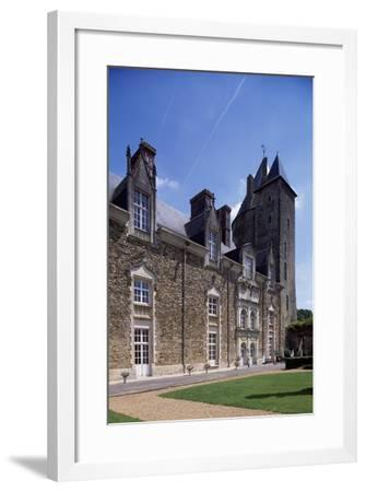 View of Chateau De La Groulais, Blain, Brittany, France, 13th-16th Century--Framed Giclee Print