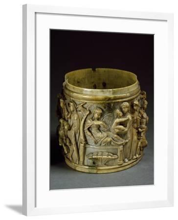 Ivory Pyx, Depicting Life of Bacchus--Framed Giclee Print