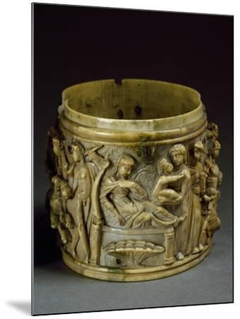 Ivory Pyx, Depicting Life of Bacchus--Mounted Giclee Print