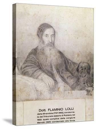 Portrait of Flaminio Lolli Della Mirandola, Involved in Menotti Conspiracy, 1831--Stretched Canvas Print